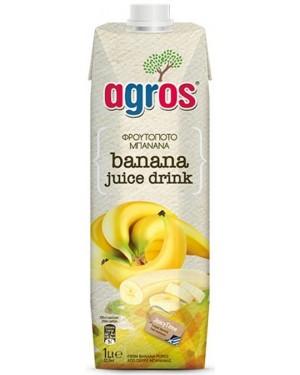 """Χυμός Φρουτοποτό Μπανάνα """"Agros"""" 1L"""