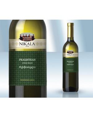 """Κρασί Λευκό Ξηρό """"Rkatsiteli"""" 11.5% 750ml"""
