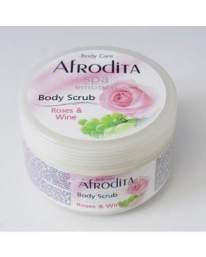 Afrodita Body Scrub Τριαντάφυλλο 350ml