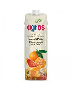 """Χυμός Φρουτοποτό Μανταρίνι-Σαγκουίνι """"Agros"""" 1L"""