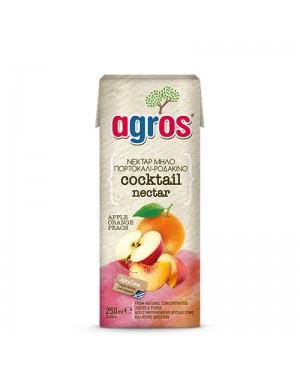 """Χυμός Νέκταρ 3 φρούτα """"Agros"""" 250ml"""