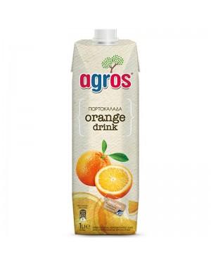 """Χυμός Φρουτοποτό Πορτοκάλι """"Agros"""" 1L"""