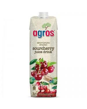 """Χυμός Φρουτοποτό """"Agros"""" Βύσσινο 1L"""