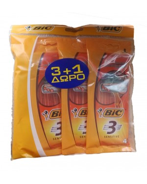BIC 3 SENSITIVE ΞΥΡΑΦΑΚΙA ΣΕ ΣΥΣΚΕΥΑΣΙΑ ΤΩΝ 4τεμ.  (3+1ΔΩΡΟ)