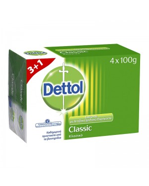Σαπούνι Dettol Classic 100gr 3+1 ΔΩΡΟ
