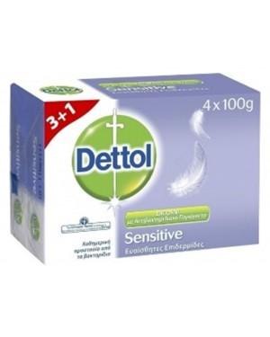 Σαπούνι Dettol SENSITIVE 100gr 3+1 ΔΩΡΟ
