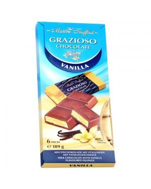 Σοκολάτα γάλακτος Maitre Truffout Grazioso με βανίλια 189g