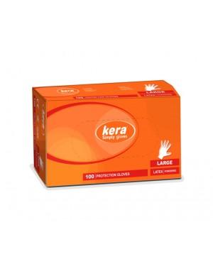 Γάντια  Kera Latex Large 100τμχ