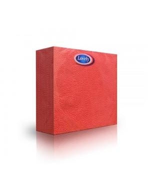 Χαρτοπετσέτα κόκκινη Lovely 60τεμ διαστάσεων 33cm X 33cm