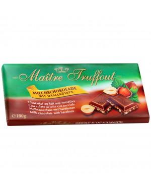 Σοκολάτα γάλακτος Maitre Truffout με φουντούκια 100g