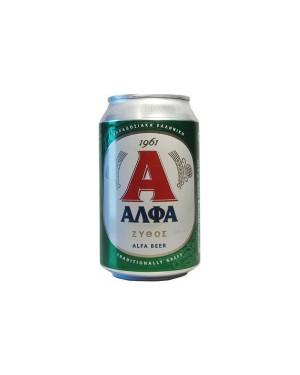 Μπύρα ΑΛΦΑ κουτί 6+2Δ 330ml