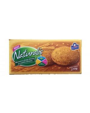 Μπισκότα Naturalis ολικής άλεσης με νυφάδες βρώμης 210g