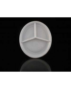 Πιάτα Πλαστικά Μεγάλο Νο.4 - 23cm, 3 Χωρίσματα
