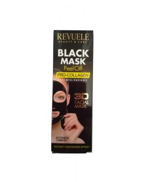 Μάσκα απολέπισης μαύρη Revuele Colagen 80ml