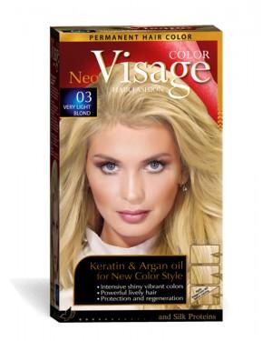 Βαφή μαλλιών Visage Νο 03  πολύ ανοιχτο ξανθό