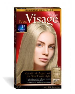 Βαφή μαλλιών Visage Νο 15 ξανθό πλατινέ