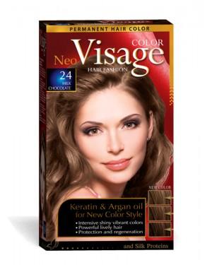 Βαφή μαλλιών Visage Νο 24 σοκολατί ανοιχτό