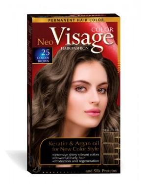 Βαφή μαλλιών Visage Νο 25 χρυσό καστανό