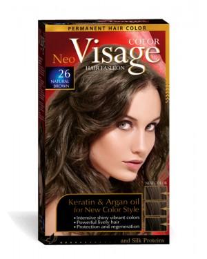Βαφή μαλλιών Visage Νο 26 φυσικό καστανό