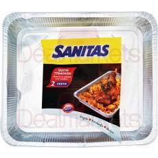 Sanitas σκεύος αλουμίνιου τροφίμων 2τεμ s32