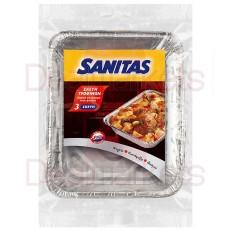 Sanitas σκεύος αλουμίνιου τροφίμων 3τεμ s20