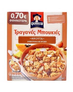 Quaker τραγανές μπουκιές βρώμης με φρούτα 450gr (-0,70€)