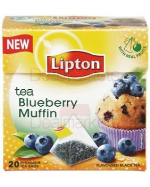 Lipton τσάι πυραμίδα blueberry muffin 20 φακ.