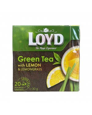 Loyd πράσινο τσάι πυραμίδα με λεμόνι και λεμονόχορτο (20x1.5gr)