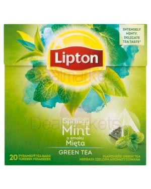 Lipton τσάι πυραμίδα green mint 20x1.6gr (εισ)