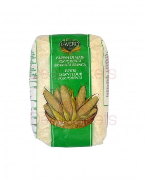 Αλεύρι λευκό χοντρό καλαμποκιού Favero 1kg
