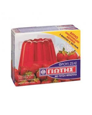 Γιώτης φρουι ζελέ φράουλα 2x100gr