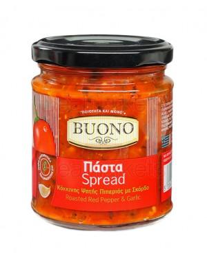 Buono πάστα κόκκινης ψητής πιπεριάς με σκόρδο 200gr