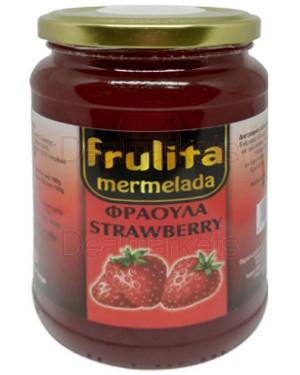 Frulita μαρμελάδα φράουλα 55% βάζο 450gr