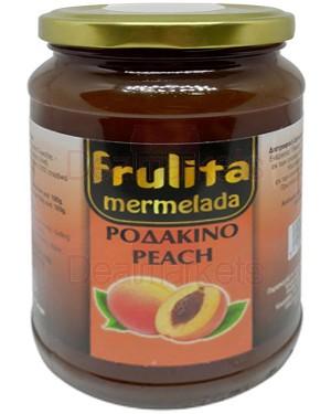Frulita μαρμελάδα ροδάκινο 55% βάζο 450gr