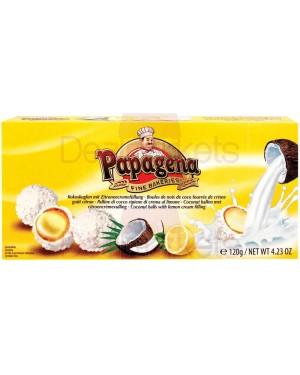 Papagena τρούφες καρύδα με γέμιση κρέμας λεμονιού 120gr
