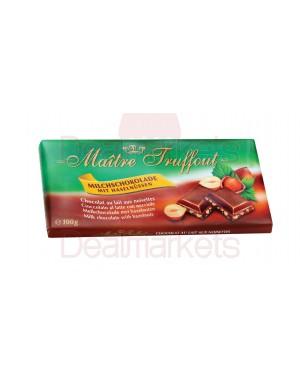 Σοκολάτα γάλακτος Maitre Truffout με φουντούκια 100gr