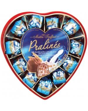 Πραλίνες γάλακτος δημητριακά καρδιά Maitre Truffout (Μπλε) 165gr