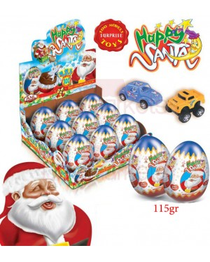 Anl choco happy santa σοκ. αυγό xxl 115gr (toy) display 9tem