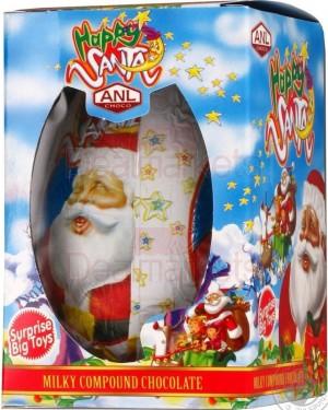 Anl Choco happy Santa σοκ. αυγό 60gr (toy) display 24τεμ