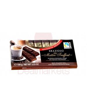 Σοκ. Γάλακτος Maitre Truffout grazioso espresso 100gr