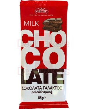 Oscar σοκολάτας γάλακτος flow pack 85gr
