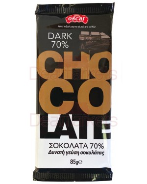 Oscar σοκολάτας υγείας 70% κακάο flow pack 85gr