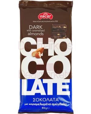 Oscar σοκολάτα υγείας με αμύγδαλα flow pack 85gr