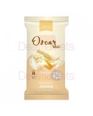 Oscar λευκή σοκολάτα με τραγανά δημητριακά flowpack 85gr