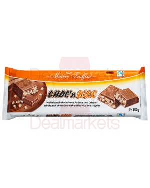 Maitre truffot σοκολάτα γάλακτος choc n rice 150gr