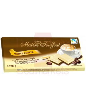 Maitre trouffot white n dark chocolate 100gr με γέμιση καφέ