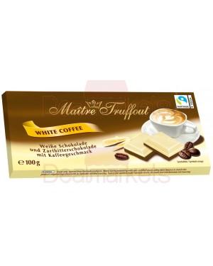 Maitre trouffot white n dark chocolate 100gr με γέμιση καφέ