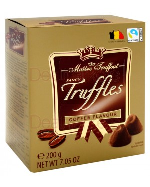Maitre trouffot τρούφες βελγικής σοκολάτας με γεύση καφέ 200gr
