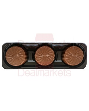 Maitre truffout cups ταρτακι με σοκολάτα και φυστικοβουτυρο 3x20gr