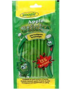 Καραμέλες Woogie sticks γεύση μήλου 85gr